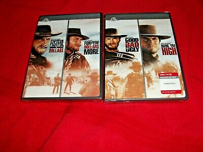 DVD lot of 2 sealed Clint Eastwood 4 Western movies Man with no name trilogy +
