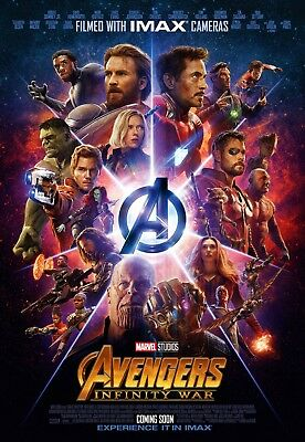The Avengers Infinity Guerre Film Affiche:27.9x43.2cm - Infinity Affiche Guerre