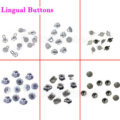 8 Models Dental Orthodontic Lingual Buttons Bondable Round Mesh Base AZDENT