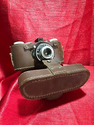 """Vtg.SPARTUS 35F """"Model 400"""" 35mm Film Camera by Herold Products As Is With Case"""