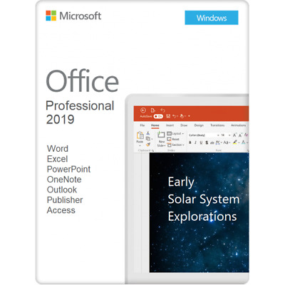 Microsoft Office Professional 2019 - 3 User | Retail Sealed | Usb