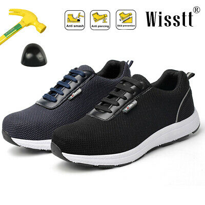 Safetoe Safety Shoes Work Boots Conscturation Mens Steel Toe Cap Leather