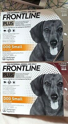Frontline Plus for Small Dogs 0-22lbs 0-10KG 6 Months 6 Pack EXP 03-2022 *NEW*