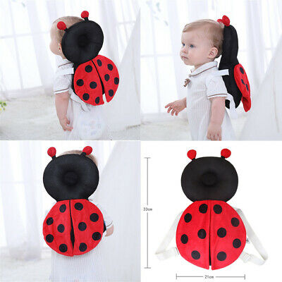 Cute mesh ladybug Head Protector Baby Anti Fall Toddler Breathable Pillow Kids