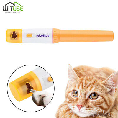 pet nail care trimmer grinder clipper electric dog cat paws grooming tool kit 7