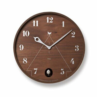 Lemnos Clock Pace Brown Lc11-09 Bw Interior  New Life Japan