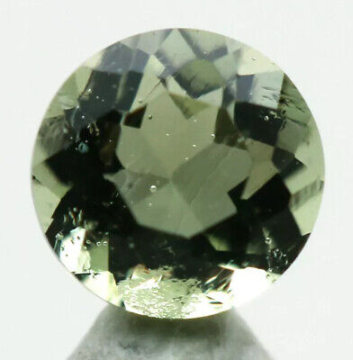FACETED MOLDAVITE HEART ~ 5mm /  4ct from Czech Republic by