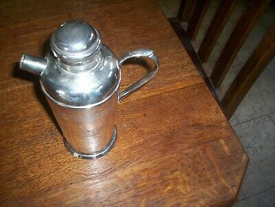 "Carrington Deco styled Silver plate Cocktail Shaker ""Pier Hotel Frankston"""