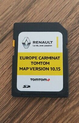 NEW!!! RENAULT TOMTOM CARMINAT LIVE V10 15 NAVIGATION SD CARD MAP