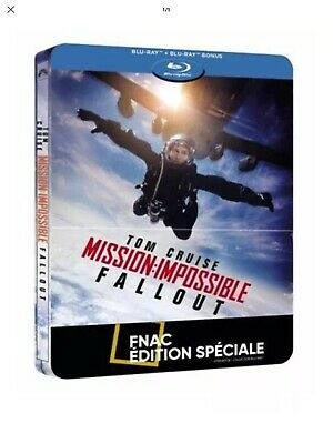 Mission Impossible Fallout Blu-Ray + Bonus  Coffret  Steelbook Neuf Sous Blister