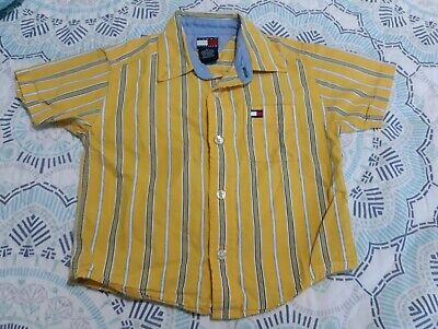 Baby Boys Shirt Short Sleeves Tommy Hilfiger Yellow Size 2T Free Shipping