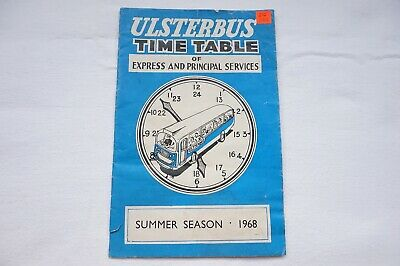 1968 Ulsterbus Bus Timetable Belfast Newry Omagh Armagh Northern Ireland Irish