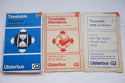 1970 Ulsterbus Bus Timetable Belfast Newry Omagh Armagh Northern Ireland Irish