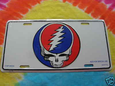Grateful Dead Steal Your Face License Plate
