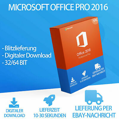 Office 2016 Professional Plus MS Office PRO Plus, Vollversion KEY Blitzversand
