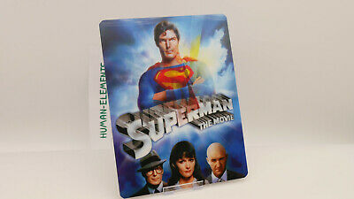 SUPERMAN The Movie - Lenticular 3D Flip Magnet Cover FOR bluray steelbook
