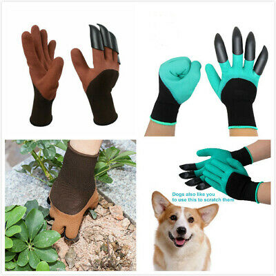 Hot Garden Genie Gloves For Digging&Planting with  ABS Plastic Claws Gardening