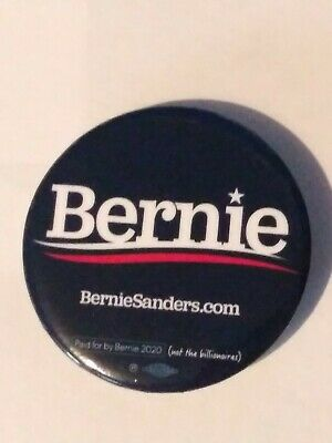 BERNIE SANDERS - 2020 Campaign Button Pin Back - OFFICIAL PRESIDENT