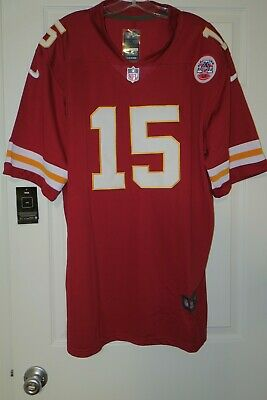 KC Patrick Mahomes Football Stiched Jersey Custom Red SEWN ON