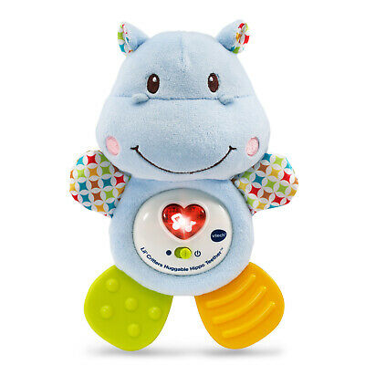 Baby Toddler Toys Critters Hippo Teether Newborns Soft Plush Sing Song Music Toy