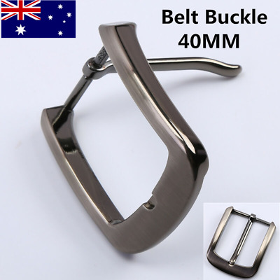 Stainless Steel Pin Single Belt Buckle for Men Leather Belt Replacement 40mm AU