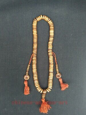 Antique Collection Old Chinese Tibet Hand-carved Prayer Beads Buddha beads
