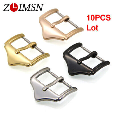 10Pcs ZLIMSN Watch Buckle Polished Solid Stainless Steel Strap Clasp Lot Wholesa