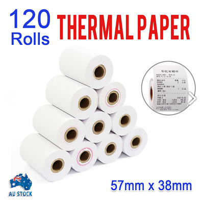 120 Bulk Rolls 57x38mm Eftpos Rolls Thermal Paper Cash Register Receipt