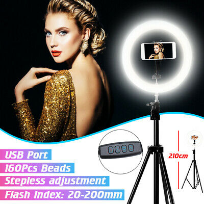 🔥 10'' Dimmable LED Ring Light Tripod Stand Selfie Video Photo For Youtube Live