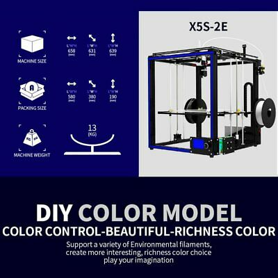 Tronxy Dual Extruder 2 in 1 out 3D Printer Multi color cyclops head DIY kits UR