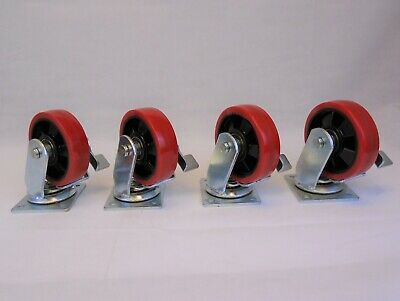 "5"" Swivel Plate Casters (Set of 4)"