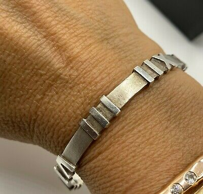 Tiffany & Co Sterling Silver Atlas Bangle Bracelet