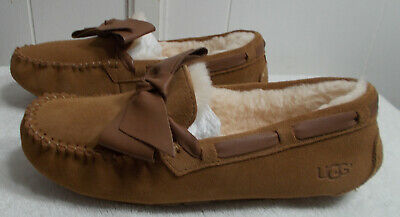 bb0036bb520 UGG AUSTRALIA DAKOTA Leather Bow Womens 1020031 Soft Ochre Suede ...