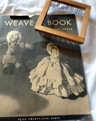 """*RARE 1930s """"WEAVE-IT"""" Book & TOOL Women CHildren DOll CLOTHING Sewing"""