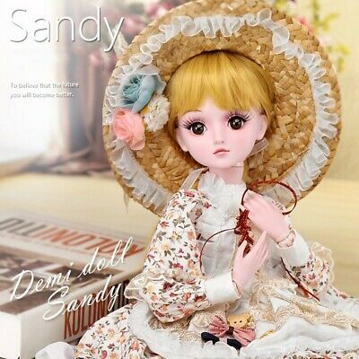 1/3 BJD Doll Ball Jointed Dolls Cute Beautiful 60cm With Face Make Up Gift Toys