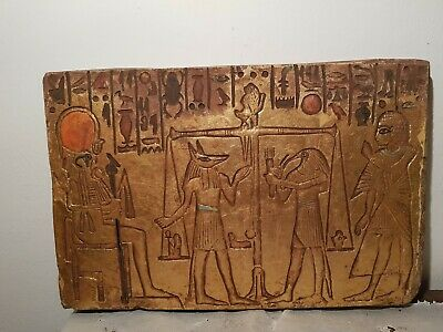 Rare Antique Ancient Egyptian Stela judgement Day God Anubis Toth 1860-1780BC