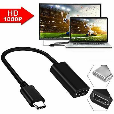 Type USB-C Ports to HDMI 4k Cable Adapter  For Tablet Macbook Pro UK Stock