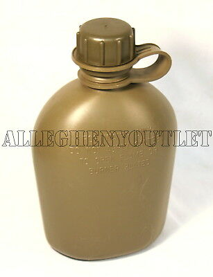 Military Canteen 1 Quart Canteen OD Green 3 Piece Plastic BPA Free USA MADE NEW