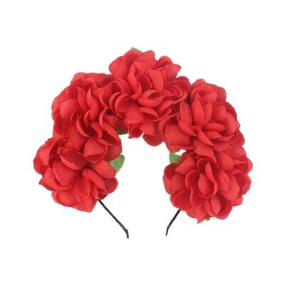 Chic Wedding Bridal Flower Headband Prom Beach Floral Garland Wreath Hand Belt Z