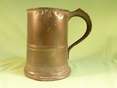 Antique Pewter Imperial Quart Tankard Various Stamps