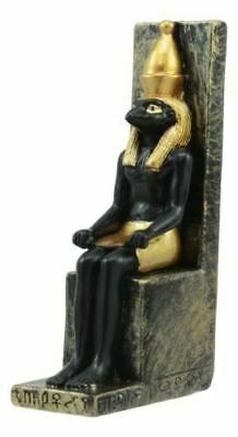 "Polyresin Egyptian War & Sky God Horus On Throne Dollhouse Mini Statue 3.25""H"