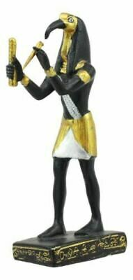 "Polyresin Egyptian God Of Technology Wisdom Thoth Dollhouse Mini Statue 3.25""H"