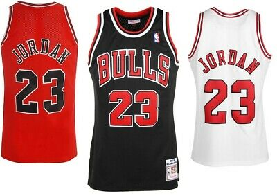 Michael Jordan Chicago Bulls #23 NBA Basketball Red/Black/White Jersey - S - XXL