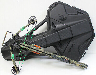 PSE Fang 350XT Crossbow Mossy Oak Camo And Spire Hard Case