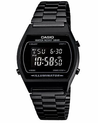 Casio B640WB-1B  Illuminator Retro Black Stainless Steel Watch B640WB-1BEF