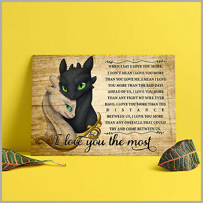How To Train Your Dragon I Love You The Most Horizontal Paper Poster No Frame