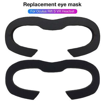 VR Headset Replacement Eye Mask Leather + Sponge Black Reusable VR Accessories
