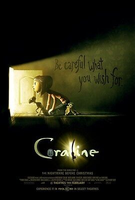 Coraline movie poster print : 11 x 17 inches -  Animation (style b)
