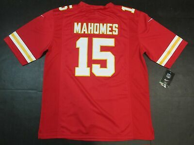 Patrick Mahomes #15 Kansas City Chiefs Mens Limited Jersey Away Red