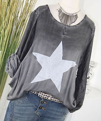 38 40 42 SOMMER LONG SHIRT  PULLOVER TUNIKA TUNIC TOP BLUSE 2 FARBEN